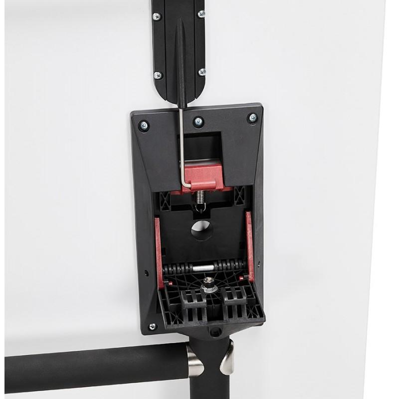 Falttisch auf Rädern aus Holz schwarze Füße SAYA (140x70 cm) (weiß) - image 49550