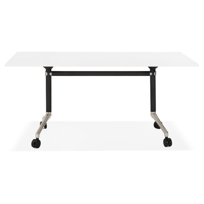 SAYA black-footed wooden wheely table (160x80 cm) (white) - image 49567