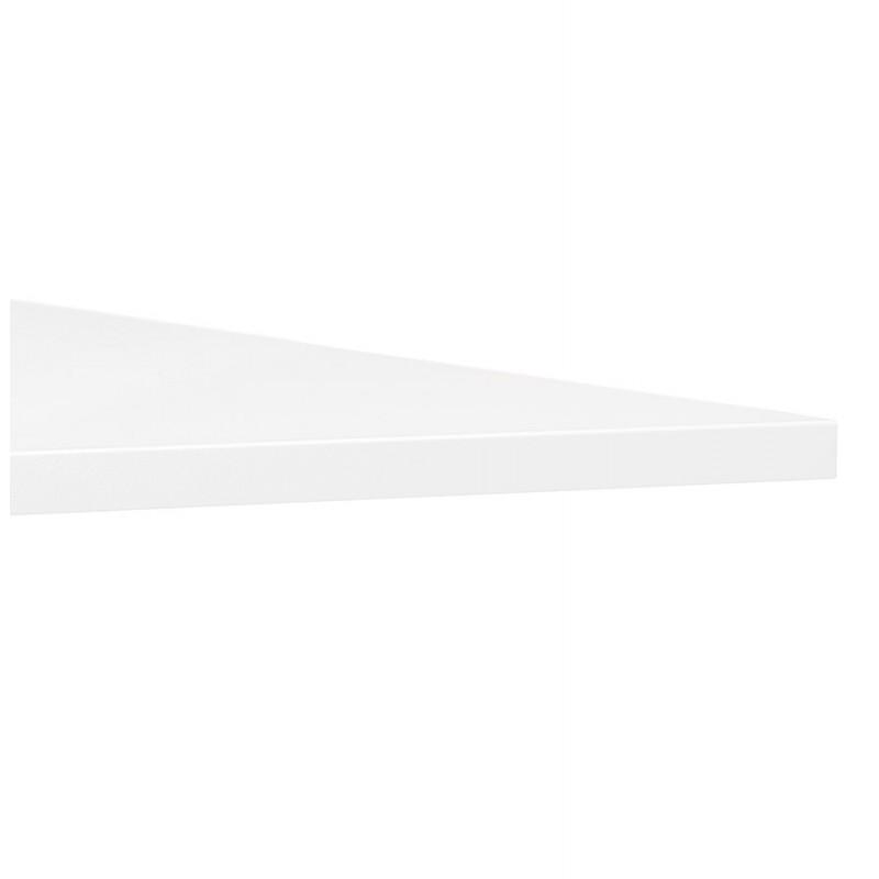 Table pliante sur roulettes en bois pieds noirs SAYA (160x80 cm) (blanc) - image 49573