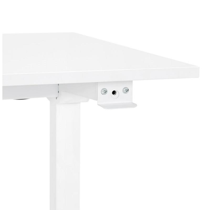 Bureau assis debout en bois pieds blanc cassé NAOMIE (140x70 cm) (blanc) - image 49599