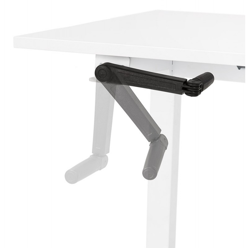 Standing desk sitting in wooden off-white feet NAOMIE (140x70 cm) (white) - image 49600
