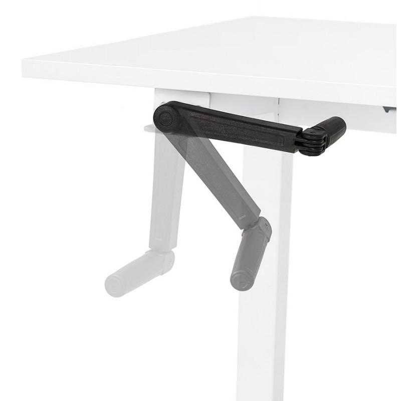Escritorio de pie sentado en pies de madera blanquecino NAOMIE (140x70 cm) (blanco) - image 49600