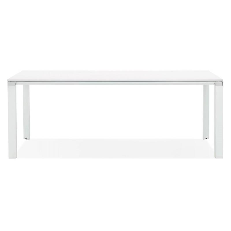 Tavolo da pranzo noRA in legno (200x100 cm) (bianco) - image 49626
