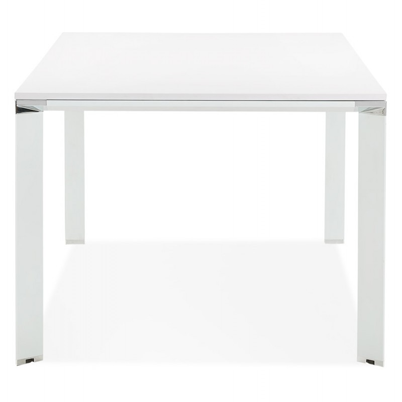 NORA wooden design meeting table (200x100 cm) (white) - image 49627