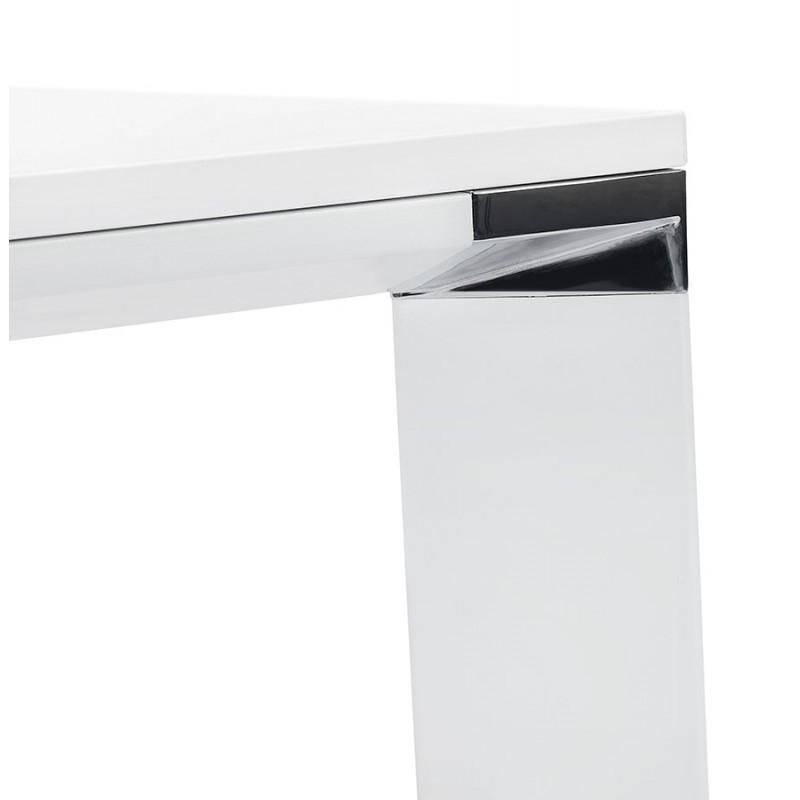Bureau droit design en bois pieds blanc BOUNY (140x70 cm) (blanc) - image 49639