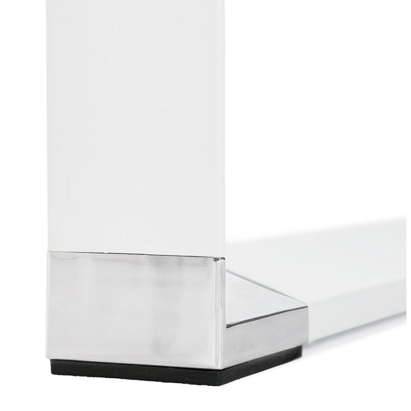 Bureau droit design en bois pieds blanc BOUNY (140x70 cm) (blanc) - image 49642