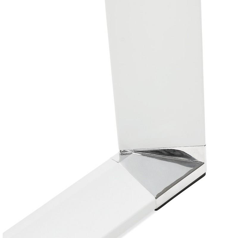 Bureau droit design en bois pieds blanc BOUNY (140x70 cm) (blanc) - image 49643