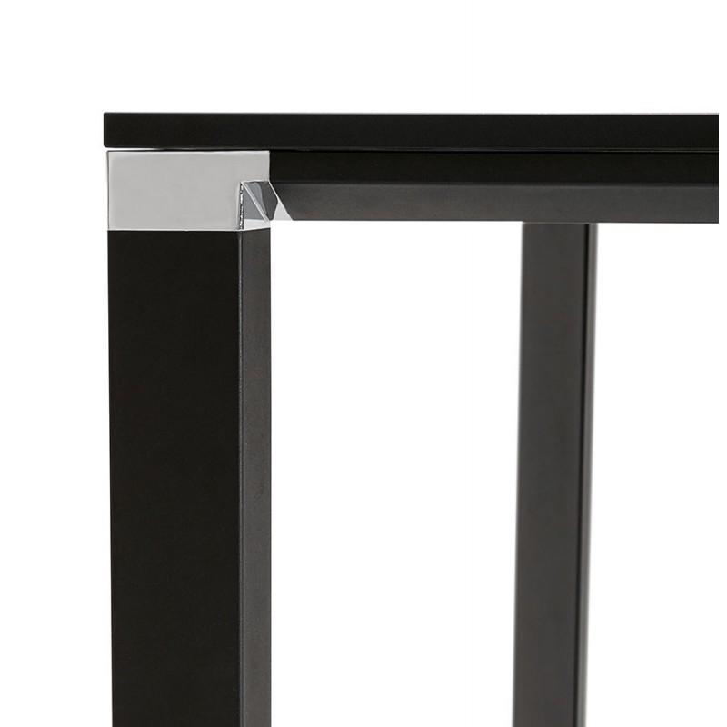 Bureau BENCH table de réunion moderne en bois pieds noirs RICARDO (160x160 cm) (noir) - image 49669