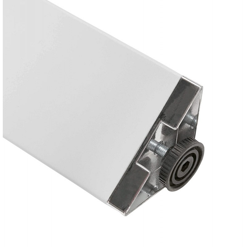 BENCH desk modern meeting table wooden white feet RICARDO (140x140 cm) (natural) - image 49681