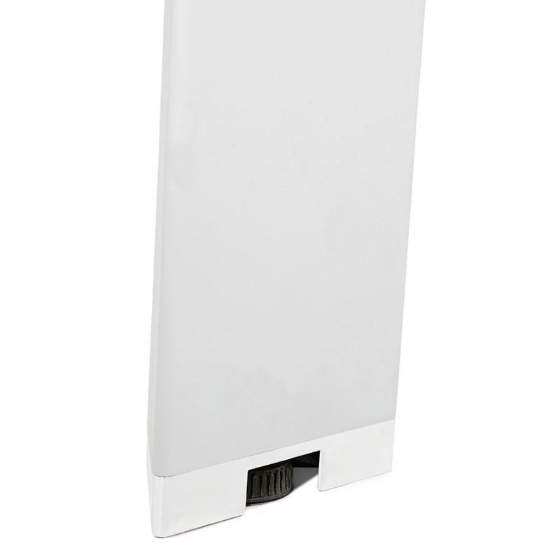 Bureau BENCH table de réunion moderne en bois pieds blancs RICARDO (140x140 cm) (noyer) - image 49685
