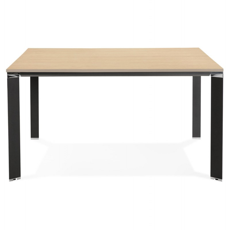 BENCH desk modern meeting table wooden black feet RICARDO (140x140 cm) (natural) - image 49688