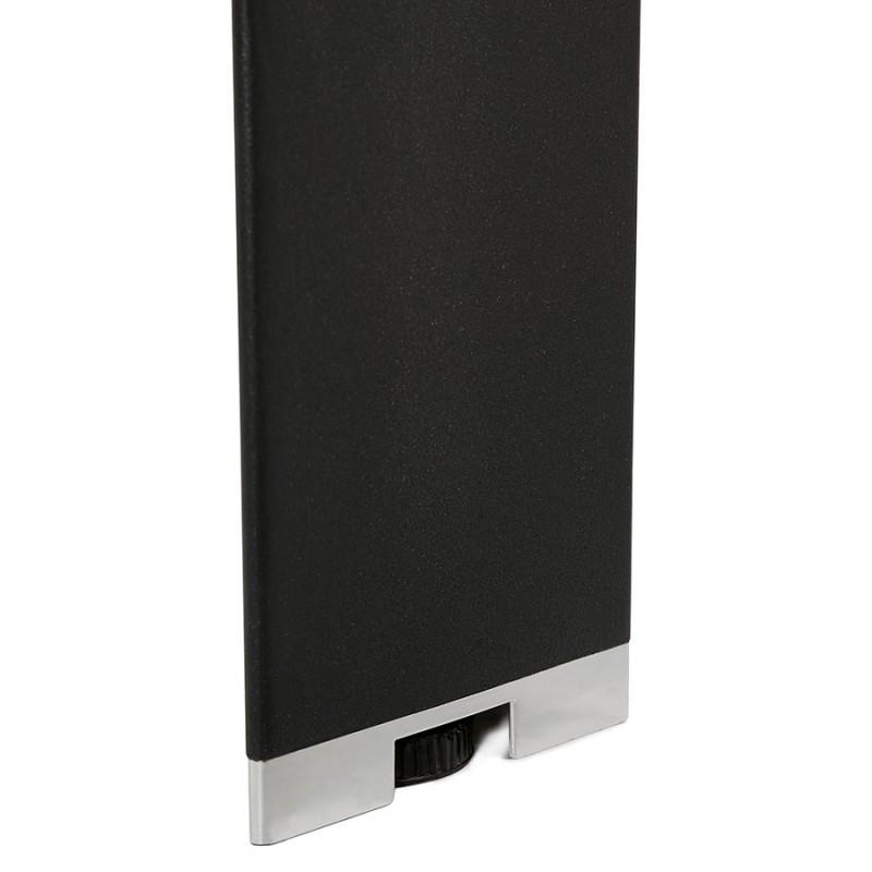 Bureau BENCH table de réunion moderne en bois pieds noirs RICARDO (140x140 cm) (noyer) - image 49696