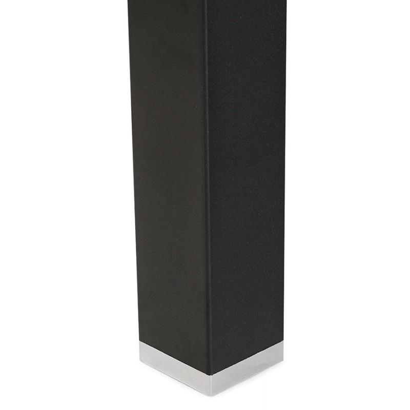 Bureau BENCH table de réunion moderne en bois pieds noirs RICARDO (160x160 cm) (noyer) - image 49719