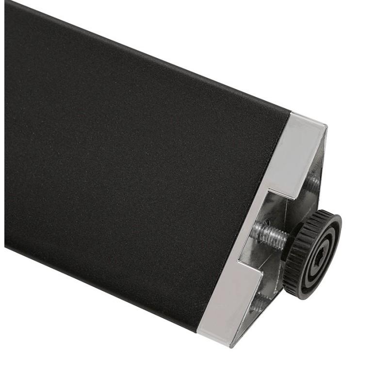 Bureau BENCH table de réunion moderne en bois pieds noirs RICARDO (160x160 cm) (noyer) - image 49720