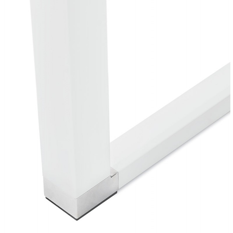 Bureau droit design en bois pieds blancs BOUNY (140x70 cm) (naturel) - image 49724