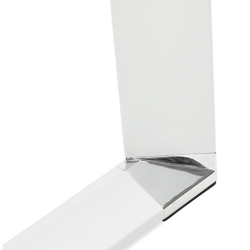 Geraden Design-Schreibtisch aus weißem Holzfuß BOUNY (140x70 cm) (natürlich) - image 49726