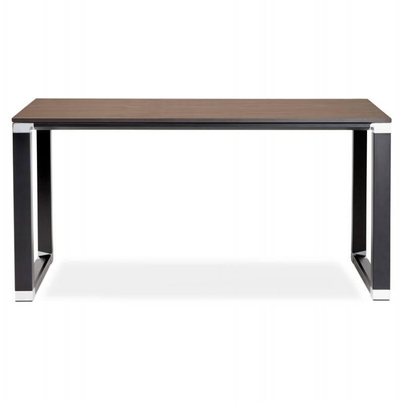 Design-Büro aus Holz schwarze Füße BOUNY (140x70 cm) (Nussbaum) - image 49740