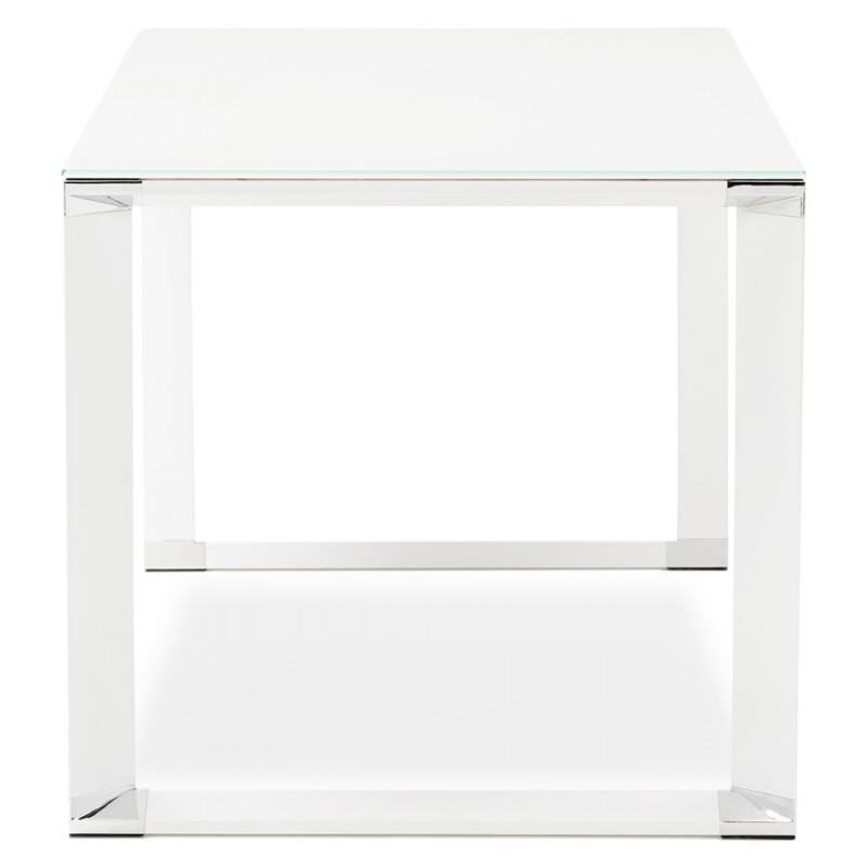 Right desk design glass soaked white feet BOIN (140x70 cm) (white) - image 49747
