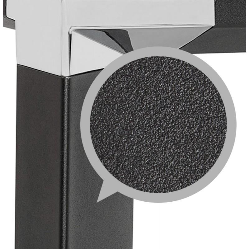 Bureau droit design en verre trempé pieds noirs BOIN (140x70 cm) (noir) - image 49759