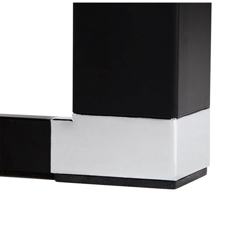 Bureau droit design en verre trempé pieds noirs BOIN (140x70 cm) (noir) - image 49766