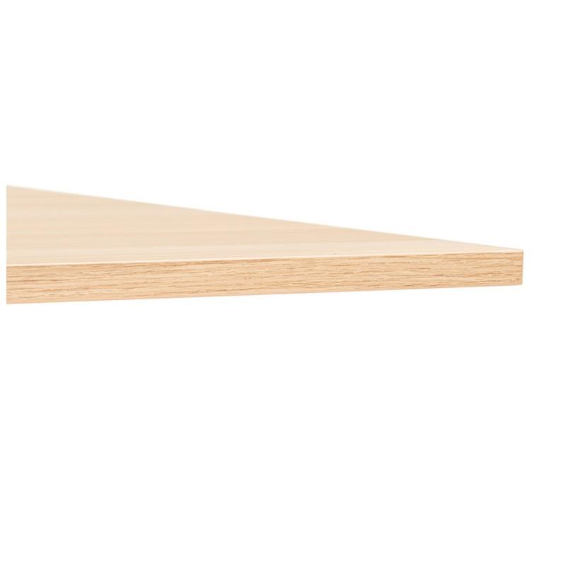Table pliante sur roulettes en bois pieds noirs SAYA (140x70 cm) (finition naturelle) - image 49774