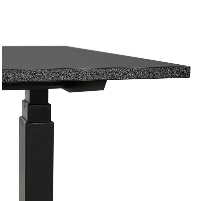 Bureau assis debout électrique en bois pieds noirs KESSY (160x80 cm) (noir) - image 49823