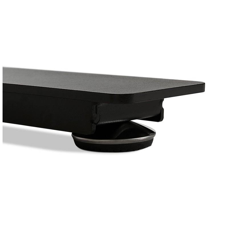 Bureau assis debout électrique en bois pieds noirs KESSY (160x80 cm) (finition naturelle) - image 49833
