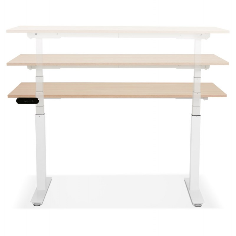 Seated standing electric wooden white feet KESSY (140x70 cm) (natural finish) - image 49854