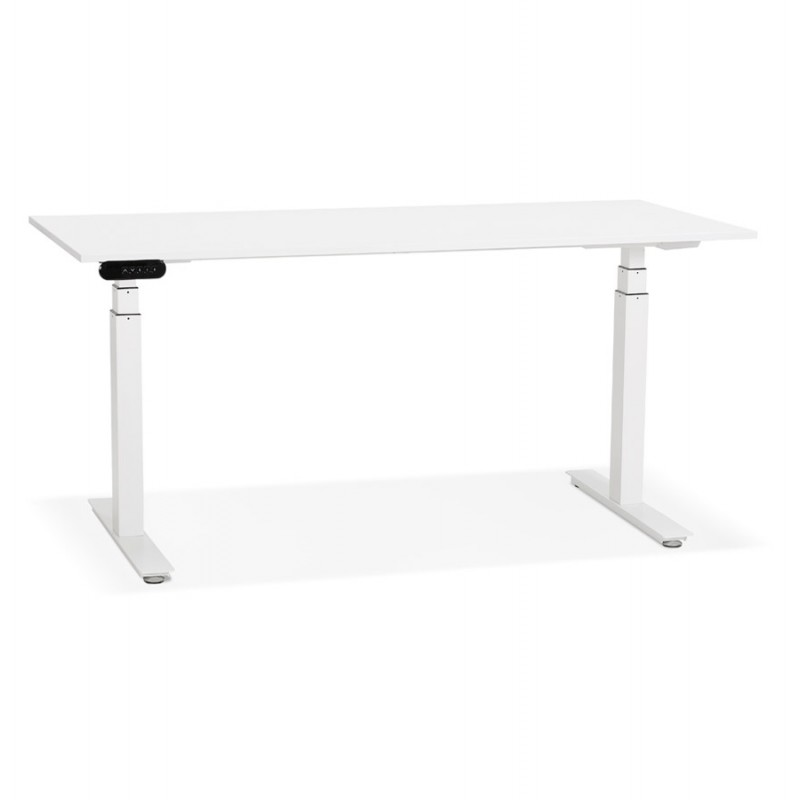 Seated standing electric wooden white feet KESSY (160x80 cm) (white) - image 49866