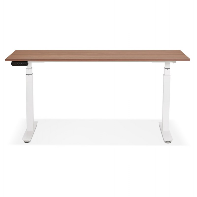 Seated standing electric wooden white feet KESSY (160x80 cm) (walnut finish) - image 49882