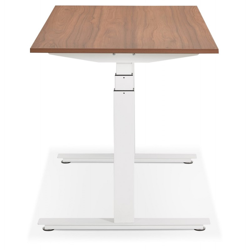 Pies blancos de madera eléctrica de pie sentados KESSY (160x80 cm) (acabado de nogal) - image 49883