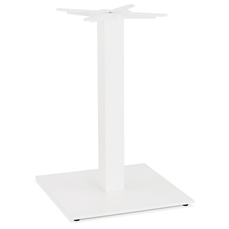 Mesa cuadrada de metal EMIE (50x50x73 cm) (blanco)