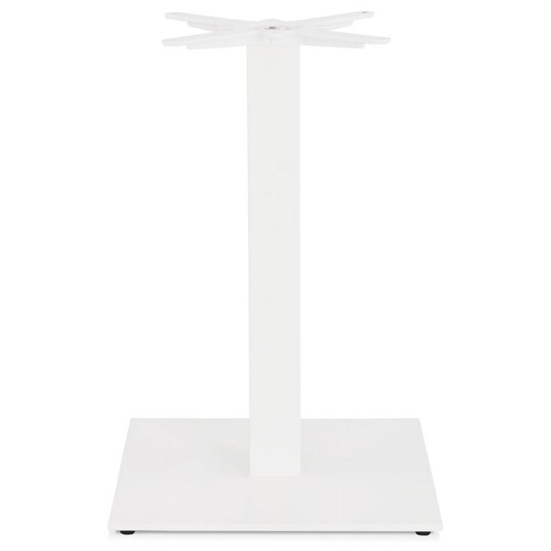 Mesa cuadrada de metal EMIE (50x50x73 cm) (blanco) - image 49915