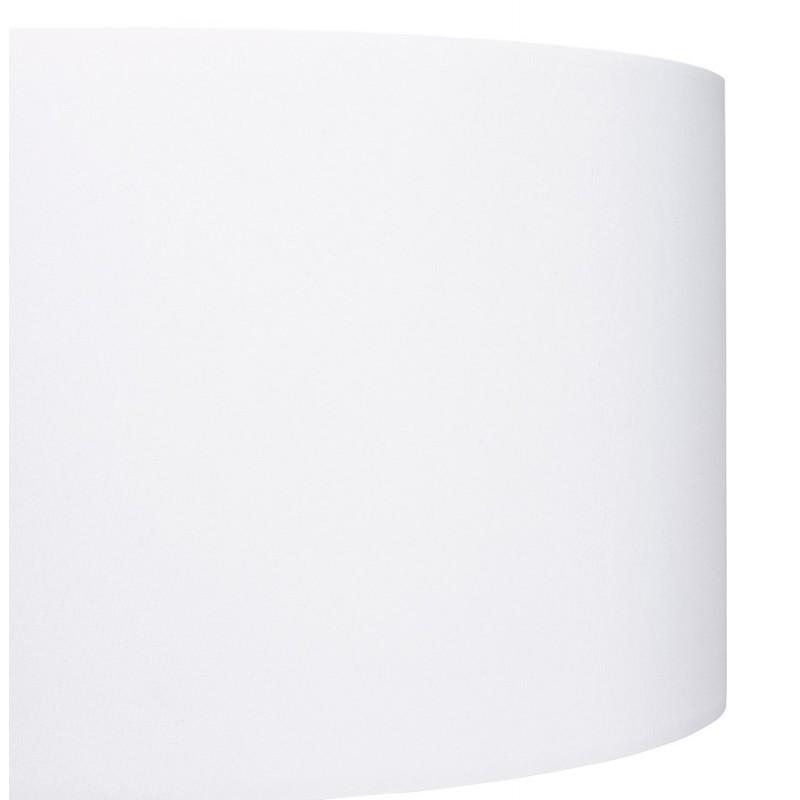 Lampe à poser design avec abat-jour sur trépied noir TRANI MINI (blanc) - image 49954