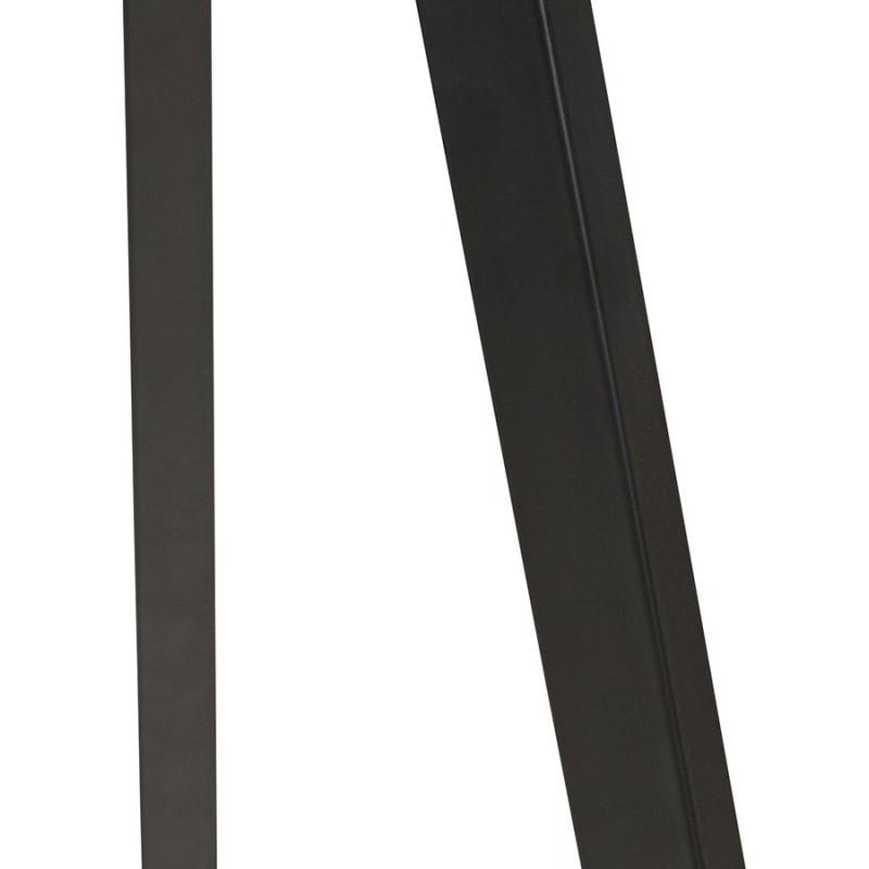Lampe à poser design avec abat-jour sur trépied noir TRANI MINI (blanc) - image 49960