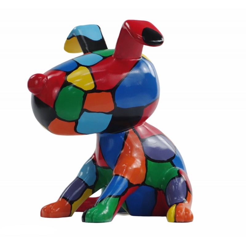 Set de 3 sculptures design CHIEN en résine (multicolore) - image 50003