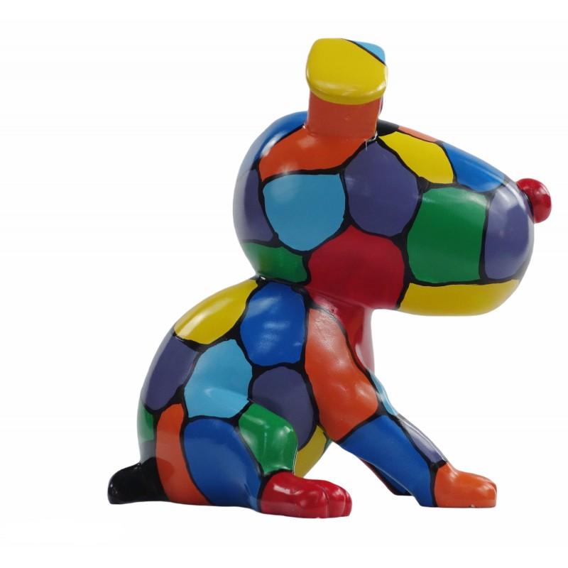 Set de 3 sculptures design CHIEN en résine (multicolore) - image 50006