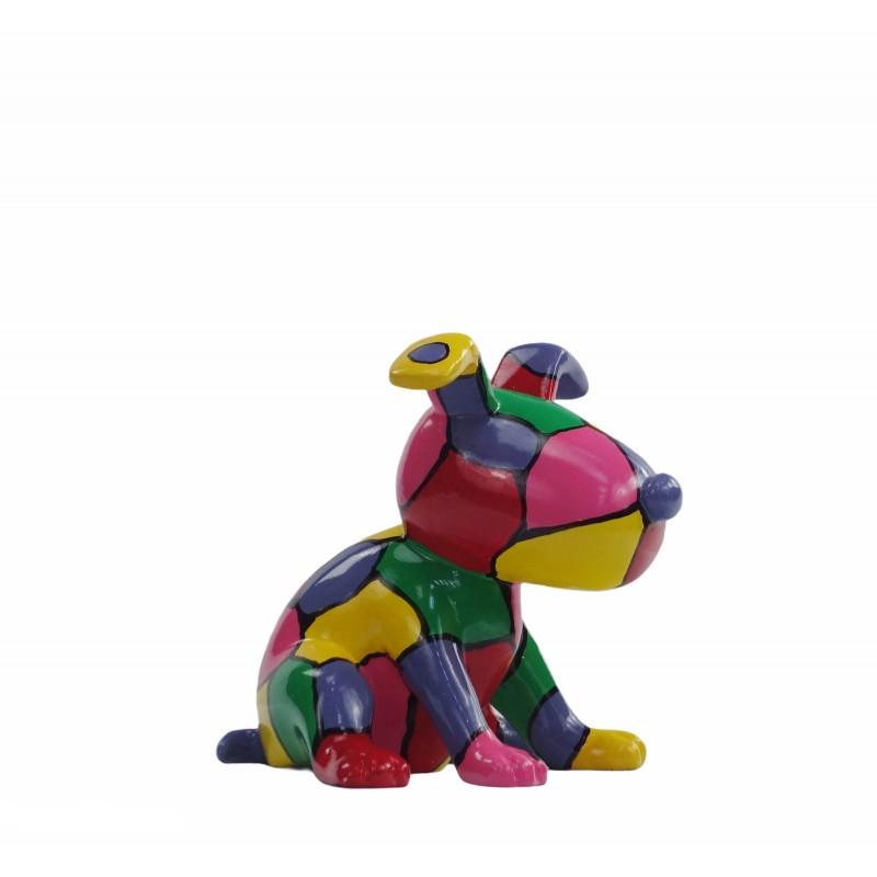 Set de 3 sculptures design CHIEN en résine (multicolore) - image 50013