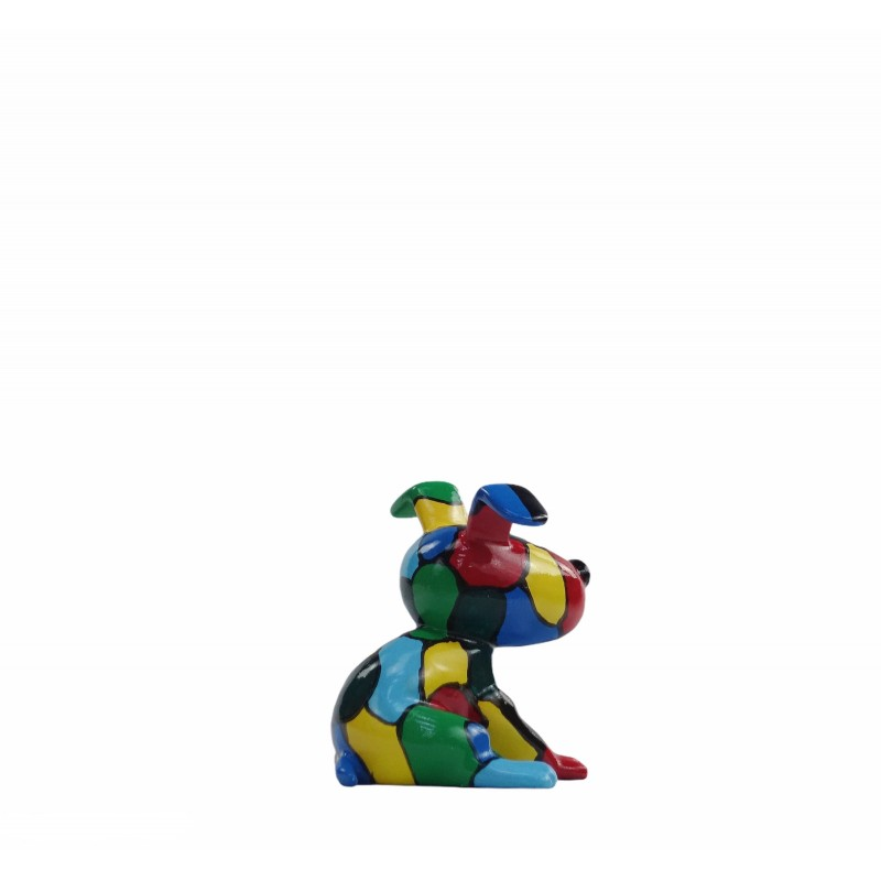 Set de 3 sculptures design CHIEN en résine (multicolore) - image 50019