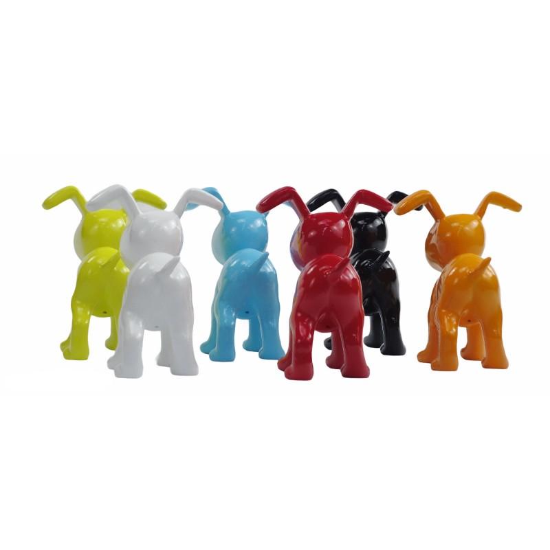 Conjunto de 6 esculturas de perros de diseño en resina (multicolor) - image 50030