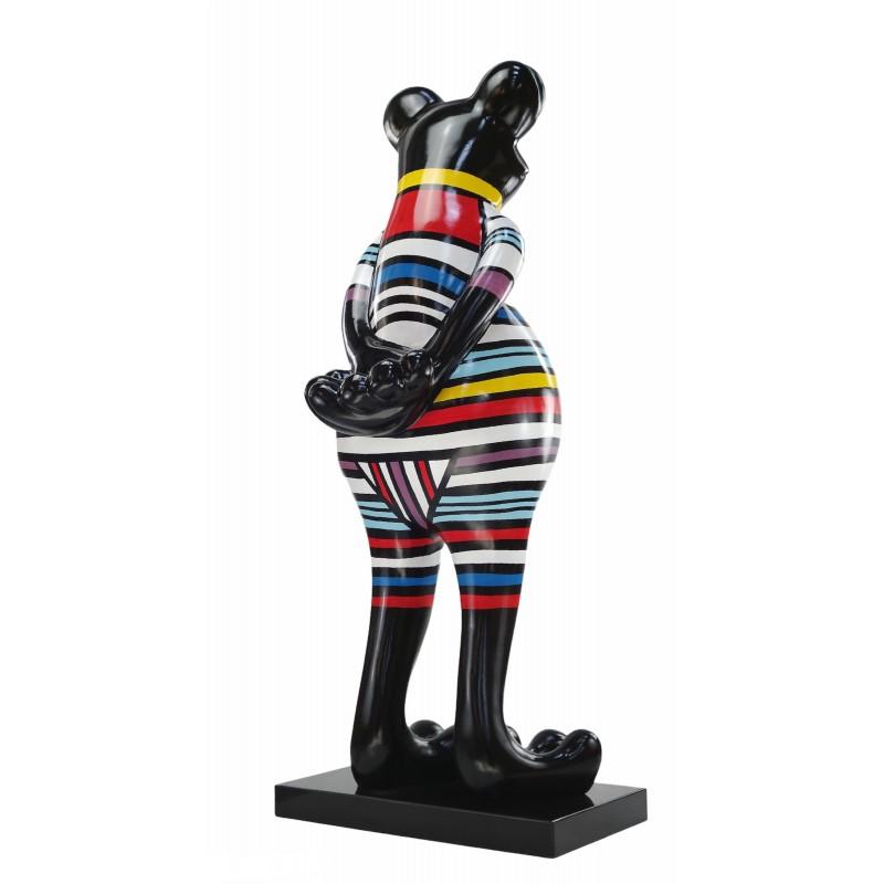 Statue Design dekorative Skulptur Frosch Kratzer im Harz H145 (multicolor) - image 50042