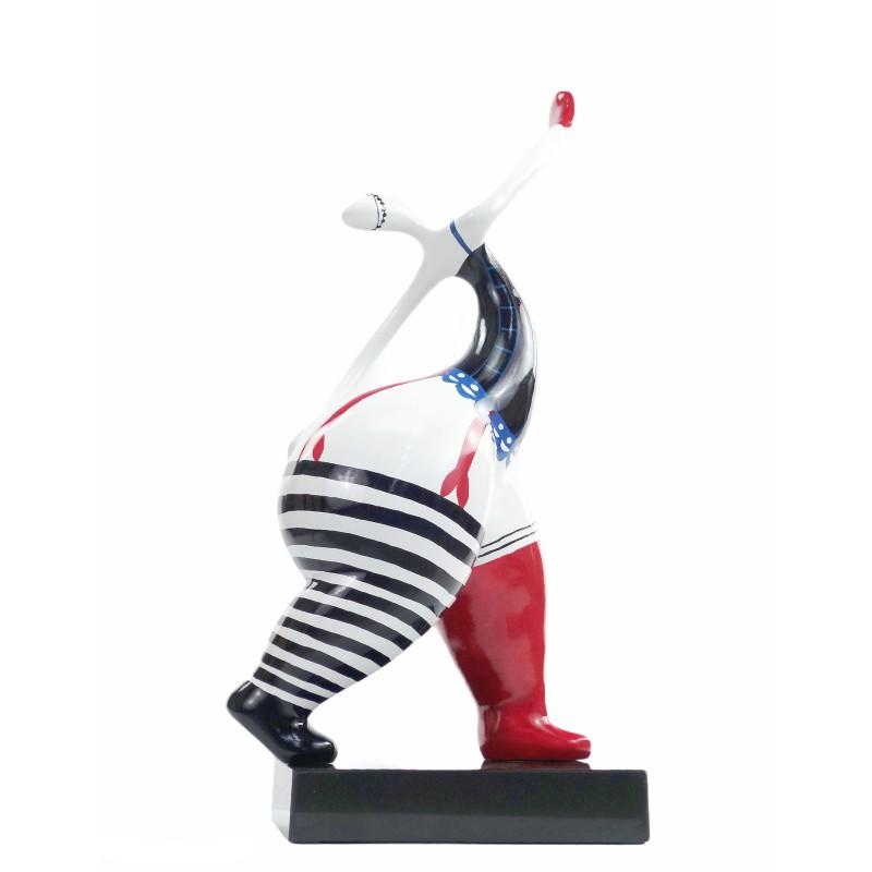 Satz von 2 Statuen Design dekorative Skulpturen Drehmoment Kurven im Harz H54 / 58cm (multicolor) - image 50082