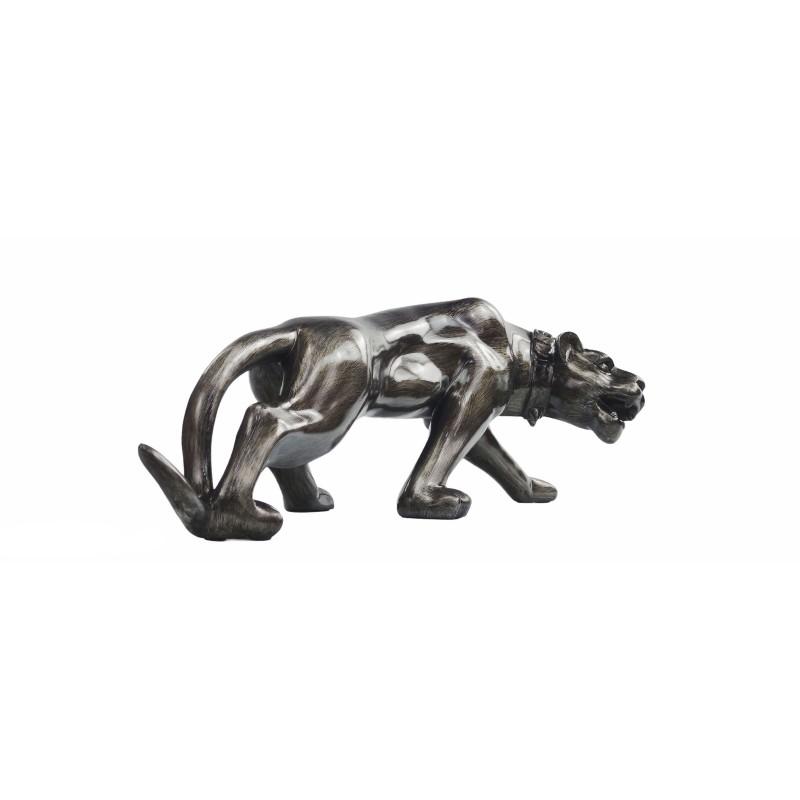 Statue sculpture décorative design PANTHERE en résine H28 (Bronze) - image 50087