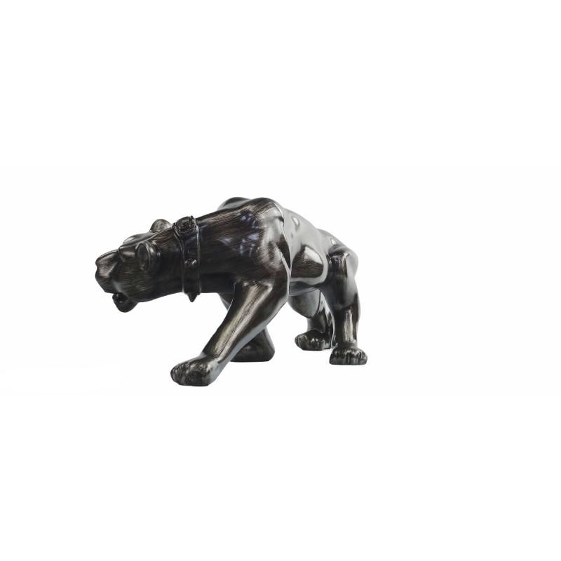 Statue sculpture décorative design PANTHERE en résine H28 (Bronze) - image 50090