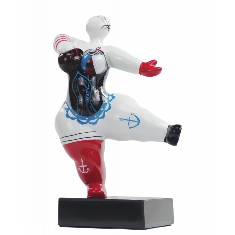 Set de 2 statues sculptures décoratives design FEMMES PECHEUR en résine H34cm (Multicolore) - image 50109
