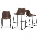 Tabouret de bar chaise de bar vintage JOE (marron)