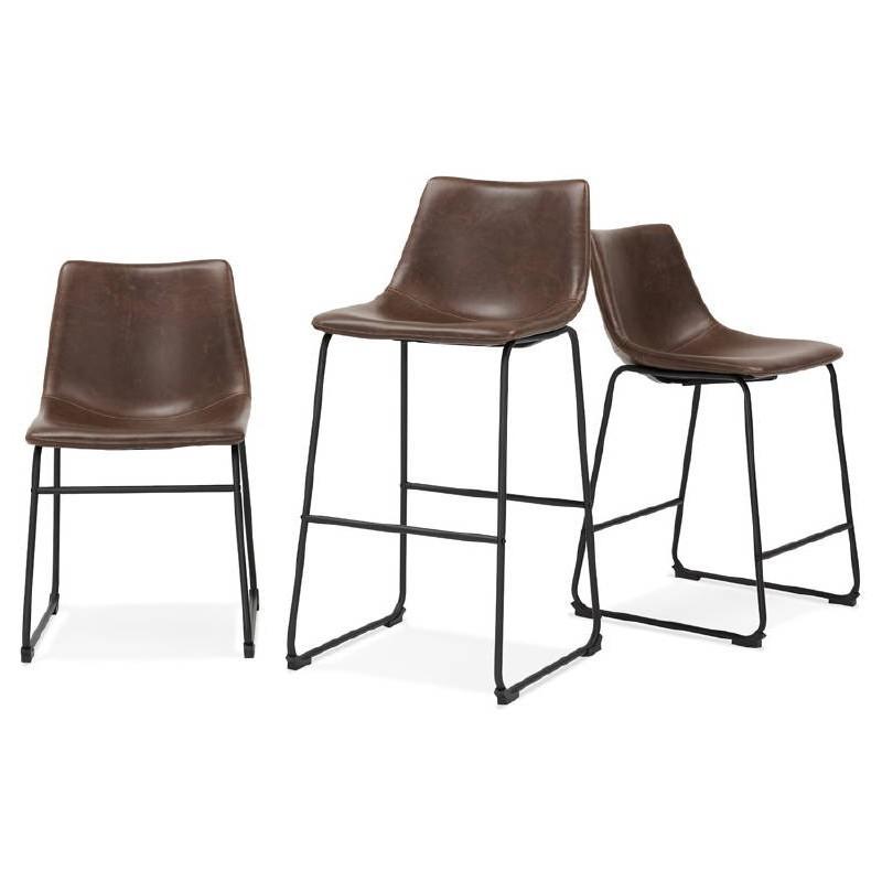 Tabouret de bar chaise de bar vintage JOE (marron) - image 50115
