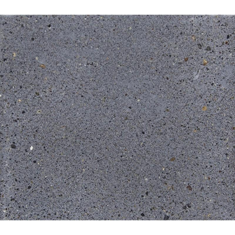 Table à manger design pieds teck massif OXANA (200 cm) (gris) - image 50319