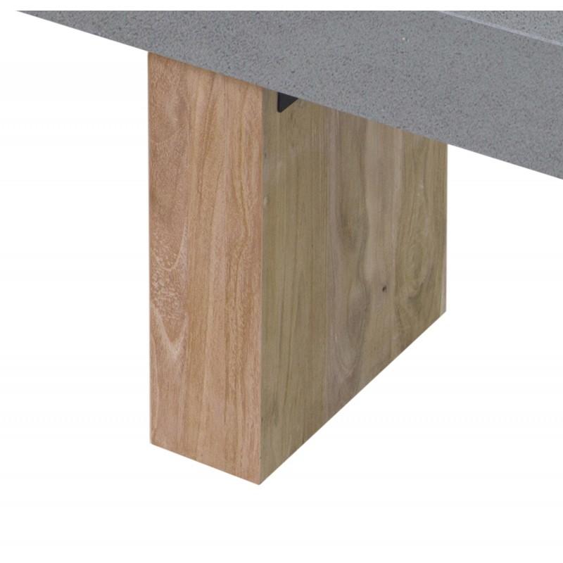 Banco de diseño de pie de teca maciza OXANA (160 cm) (gris) - image 50332