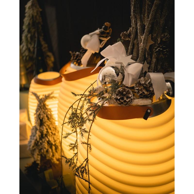 Lampe LED seau à champagne haut-parleur enceinte bluetooth KOODUU SYNERGIE S 50 (blanc) - image 50348